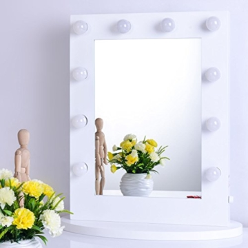 chende hollywood kosmetikspiegel mit beleuchtung weisse freie dimmer 12 led lampen. Black Bedroom Furniture Sets. Home Design Ideas
