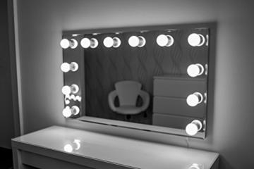 Hollywood spiegel theaterspiegel spiegel mit gl hbirnen schminkspiegel mit licht - Hollywood spiegel lampen ...