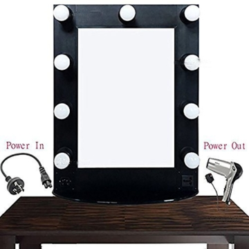 beauties factory pro hollywood beleuchtete make up eitelkeit led spiegel 3 watt led. Black Bedroom Furniture Sets. Home Design Ideas