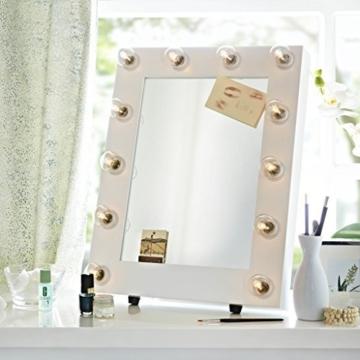 Der Broadway Weiß Satin Hollywood Beleuchtet LED Dimmbar Make-Up Spiegel Licht Umkleidekabine Tischplatte oder Wandmontage Schminktisch -