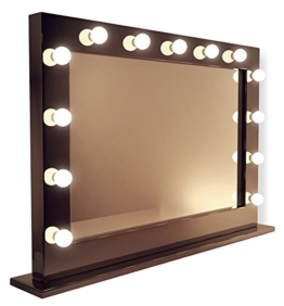Diamond X Gloss Black Hollywood MakeupMirror with WarmWhite LED k314WWaud -