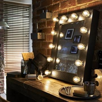 Die Broadway Kunstleder schwarz Croc Effect Hollywood Beleuchteter LED verstellbar Makeup Spiegel Licht Umkleide Tischplatte oder Wand Montage Schminktisch -