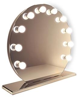 Ganzflächiger Hollywood-Schminkspiegel mit dimmbaren warmweißen LEDs k251WW -