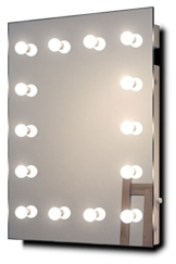 Hollywood-Schminkspiegel für die Garderobe mit kaltweißen dimmbaren LEDs k412CW -