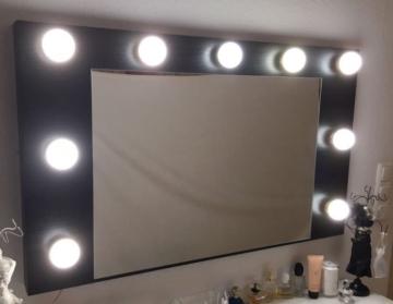 kosmetikspiegel hollywoodspiegel schminkspiegel inkl 9 led leuchtmittel je 7 w. Black Bedroom Furniture Sets. Home Design Ideas