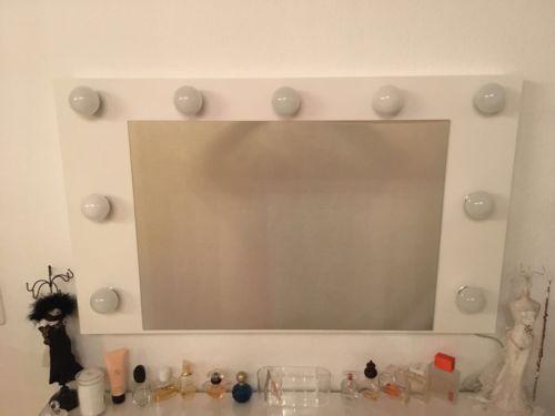 Kosmetikspiegel theaterspiegel hollywoodspiegel larissa passt zu malm - Hollywood spiegel lampen ...