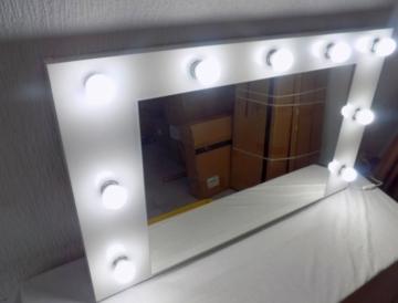 schminkspiegel kosmetikspiegel theaterspiegel hollywoodspiegel ohne leuchtmittel. Black Bedroom Furniture Sets. Home Design Ideas