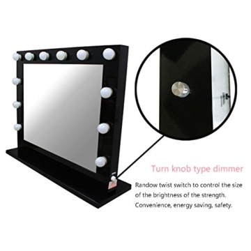 Black Hollywood Makeup Mirror with lights Vanity Lighted Beauty Theatre Mirror 8065 -