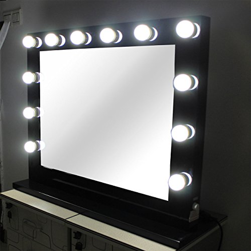 black hollywood makeup mirror with lights vanity lighted beauty theatre mirror 8065. Black Bedroom Furniture Sets. Home Design Ideas