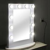 Chende Hollywood Kosmetikspiegel mit Beleuchtung Weisse freie Dimmer 12 LED-Lampen -