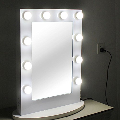 chende hollywood kosmetikspiegel mit beleuchtung weisse freie dimmer 12 led lampen. Black Bedroom Furniture Sets. Home Design Ideas