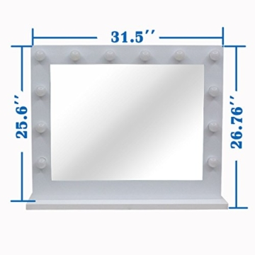 Chende Hollywood Kosmetikspiegel mit Beleuchtung Weisse freie Dimmer 14 LED-Lampen -