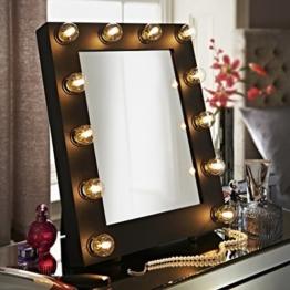 Der Broadway Schwarz Matt Hollywood Beleuchtet LED Dimmbar Make-Up Spiegel Licht Umkleidekabine Tischplatte oder Wandmontage Schminktisch -