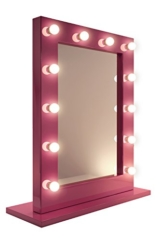Rosa Hollywood Theater-Garderobe LED-Schminkspiegel k153WW -