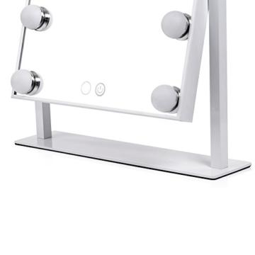 WanEway Schminkspiegel mit 12 x 3W dimmbaren LED Birnen und Touch Control Design, Hollywood Style Makeup Kosmetik Spiegel mit Lichter, Weiß -