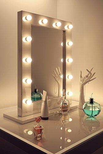 wei er hochglanz hollywood theater garderobe led schminkspiegel k113ww. Black Bedroom Furniture Sets. Home Design Ideas
