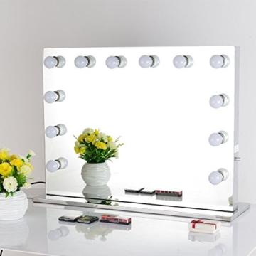 chende rahmenlos hollywood schminkspiegel mit beleuchtung b hne kosmetikspiegel sch nheit. Black Bedroom Furniture Sets. Home Design Ideas
