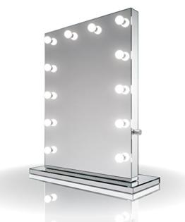 Ganzfl�chiger Hollywood-Schminkspiegel mit dimmbaren kaltwei�en LEDs k252CW - 1