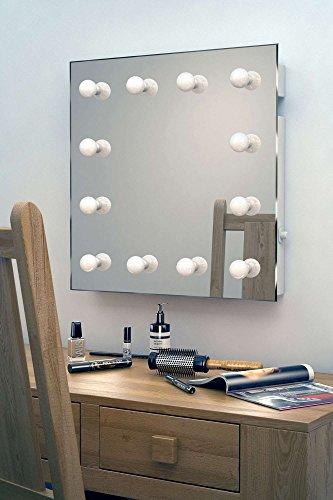 Hollywood-Schminkspiegel für die Garderobe mit kaltweißen dimmbaren LEDs k411CW - 2