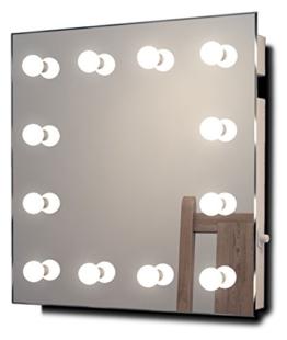 Hollywood-Schminkspiegel für die Garderobe mit kaltweißen dimmbaren LEDs k411CW - 1